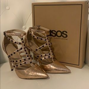 ASOS Stud Detailed Heels size US 8
